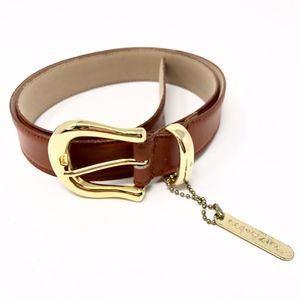 Vintage Capezio   Genuine Leather Belt Brown Gold